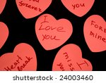 grateful cards of valentine day ... | Shutterstock . vector #24003460
