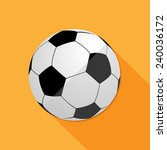 soccer ball large icon great... | Shutterstock .eps vector #240036172