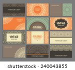 set business card. vintage... | Shutterstock .eps vector #240043855