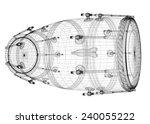 djembe drum groove   body... | Shutterstock . vector #240055222