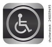 handicap or wheelchair person... | Shutterstock .eps vector #240059695