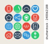 set of simple social icons | Shutterstock .eps vector #240062188