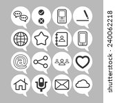 set of simple social icons | Shutterstock .eps vector #240062218