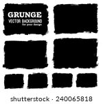 black ink vector stains | Shutterstock .eps vector #240065818