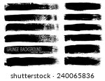 black ink vector brushes | Shutterstock .eps vector #240065836