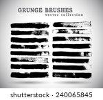 black ink vector brushes | Shutterstock .eps vector #240065845