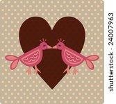 valentine  card | Shutterstock .eps vector #24007963