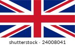 flag of the united kingdom ... | Shutterstock .eps vector #24008041