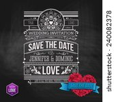 wedding concept   artistic save ... | Shutterstock .eps vector #240082378
