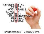 hand writing customer crossword ... | Shutterstock . vector #240099496