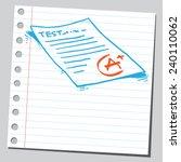 school exam test | Shutterstock .eps vector #240110062