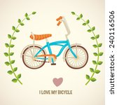 i love my bicycle  cartoon flat ... | Shutterstock .eps vector #240116506