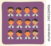 businessmen characters team... | Shutterstock .eps vector #240120406