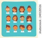 businesswoman characters team... | Shutterstock .eps vector #240120526