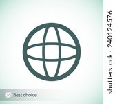 globe icon vector illustration. ... | Shutterstock .eps vector #240124576