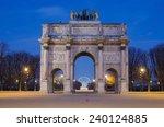 paris  france . arc de triomphe ... | Shutterstock . vector #240124885