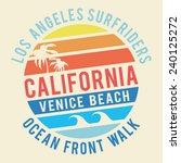 california surf typography  t... | Shutterstock .eps vector #240125272