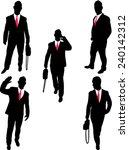 businessman collection 2 vector | Shutterstock .eps vector #240142312