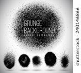 black ink vector spray stains | Shutterstock .eps vector #240146866
