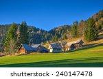 Mountain Village In Autumn...