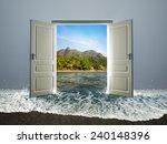 door open to the beach   Shutterstock . vector #240148396