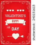 happy valentines day cards... | Shutterstock .eps vector #240151615