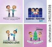 friends and friendship  social... | Shutterstock .eps vector #240158338
