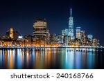 Lower Manhattan By Night Viewe...