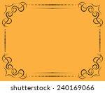 vector vintage ornate frame on... | Shutterstock .eps vector #240169066
