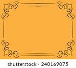 vintage ornate frame on a... | Shutterstock . vector #240169075