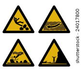 Assorted Beach Hazard Signs...