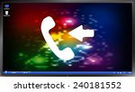 call button. incoming call....   Shutterstock .eps vector #240181552