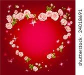 vector rose heart | Shutterstock .eps vector #24018691