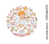 vector illustration in doodle... | Shutterstock .eps vector #240186952