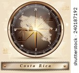 map of costa rica with borders... | Shutterstock .eps vector #240187192