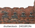 ancient ruins stone  buddha