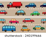 stream of cars on the road. | Shutterstock .eps vector #240199666