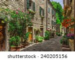 Typical Italian Street In A...