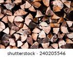 pack of the firewood sticks...   Shutterstock . vector #240205546