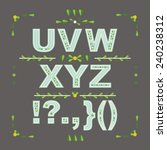 decorative floral vector font.... | Shutterstock .eps vector #240238312