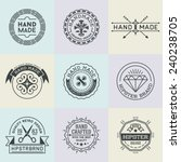 assorted retro design insignias ... | Shutterstock .eps vector #240238705