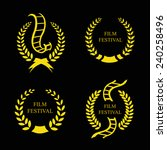 film festival gold award  set... | Shutterstock .eps vector #240258496