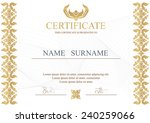 certificate  diploma of... | Shutterstock .eps vector #240259066