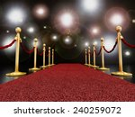 red carpet at night with... | Shutterstock . vector #240259072