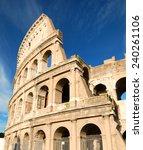 colosseum in rome  italy  | Shutterstock . vector #240261106