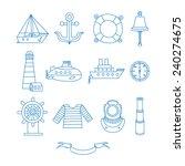 Set Of Nautical Design Element...