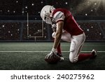 football player with a red... | Shutterstock . vector #240275962