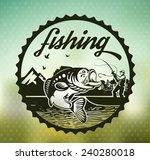 fishing | Shutterstock .eps vector #240280018