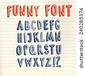 doodle  vector funny abc... | Shutterstock .eps vector #240285376