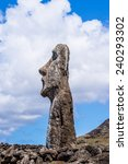 close view of the moai  easter... | Shutterstock . vector #240293302